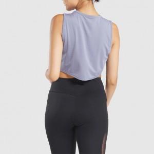 Crop Tank Top Women's Training Fitness Gym Wear Vest Sleeveless Tee Shirts