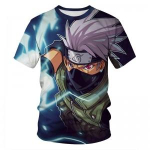 Summer Japanese anime hip-hop style Harajuku cosplay Sasuke Uchiba 3D printed mens T-shirt