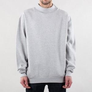 China factory custom logo 100% cotton fleece blank oversized mock neck sweatshirt