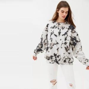 Tie Dye Sweatshirts Top Fashion Women Cotton Hip Hop Sweatshirts